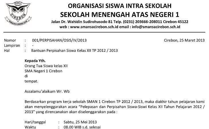 surat perpisahan 2013