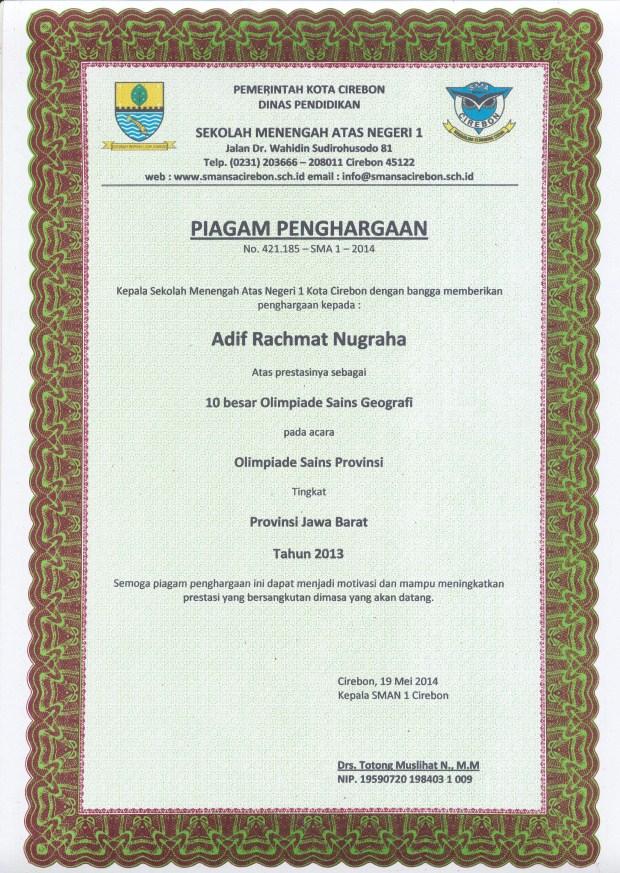 Daftar Alumni Berprestasi Angkatan 2014 Yandriana Inspiring Teacher